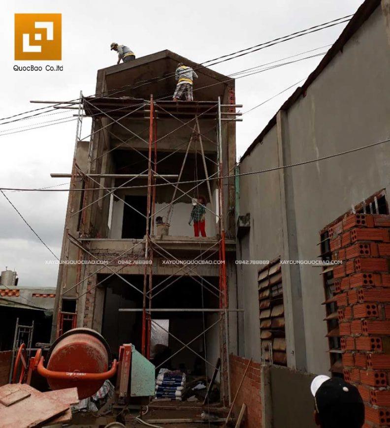Công tác xây tô nhà phố 2 tầng - Ảnh 3