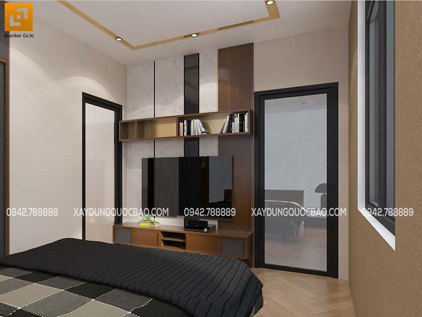 Phòng ngủ con trai bố trí nội thất sinh động, màu sắc tươi sáng