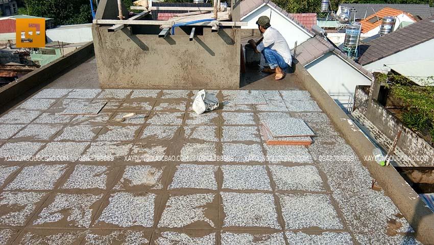 Thi công phần hoàn thiện nhà phố 4 tầng - Ảnh 12