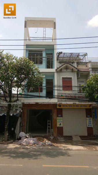 Thi công phần hoàn thiện nhà phố 4 tầng - Ảnh 28