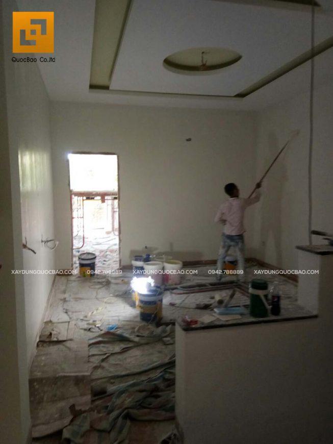 Thi công phần hoàn thiện nhà phố 4 tầng - Ảnh 22