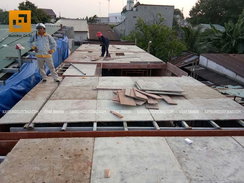 Thi công cột, trụ và sàn lầu 1 - Ảnh 5