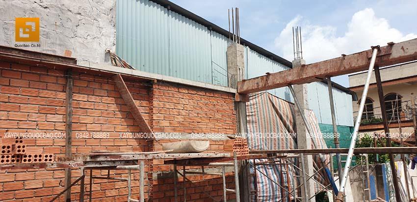 Thi công cột, trụ và sàn lầu 1 - Ảnh 2