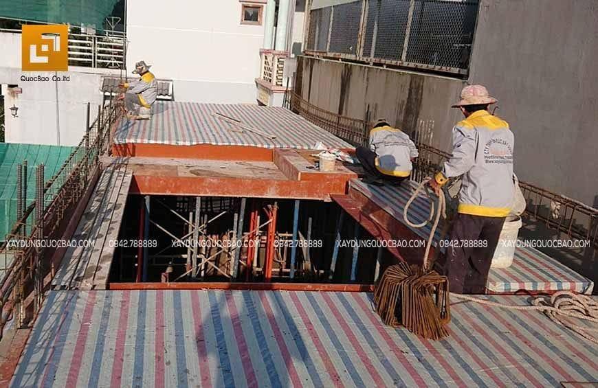 Thi công phần thô nhà 4 tầng - Ảnh 10