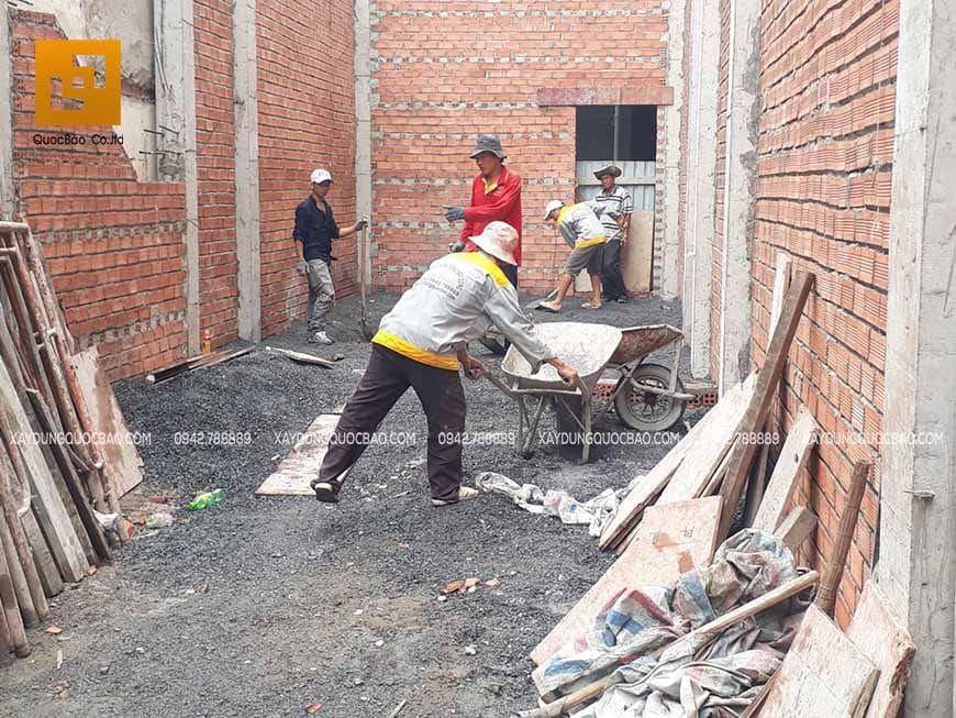 Thi công phần thô nhà 4 tầng - Ảnh 1