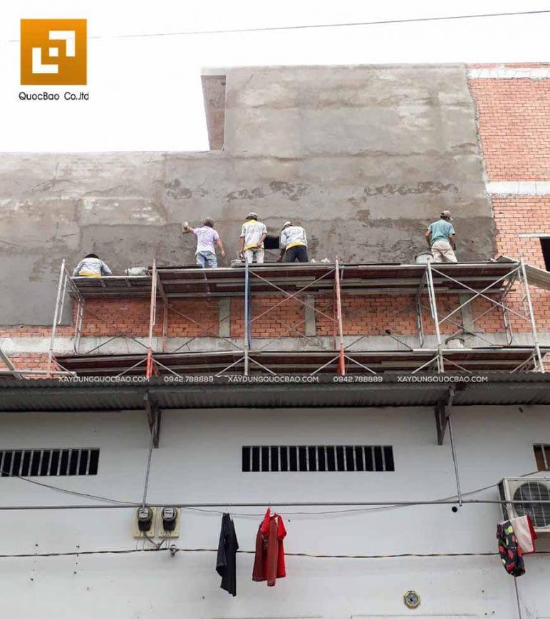 Thi công phần thô nhà 4 tầng - Ảnh 16