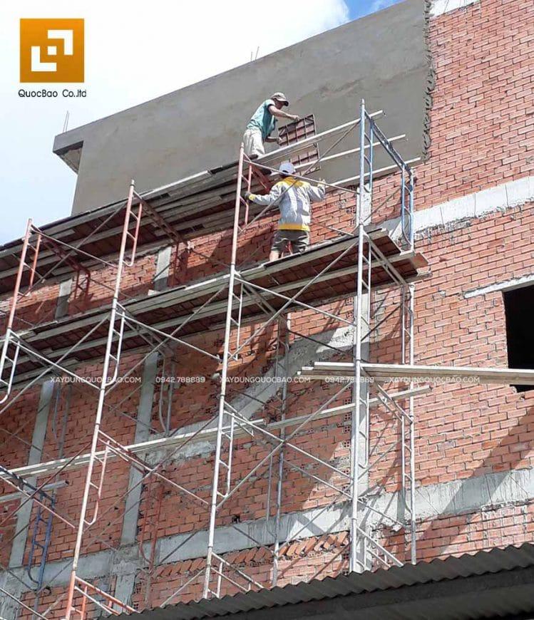 Thi công phần thô nhà 4 tầng - Ảnh 17