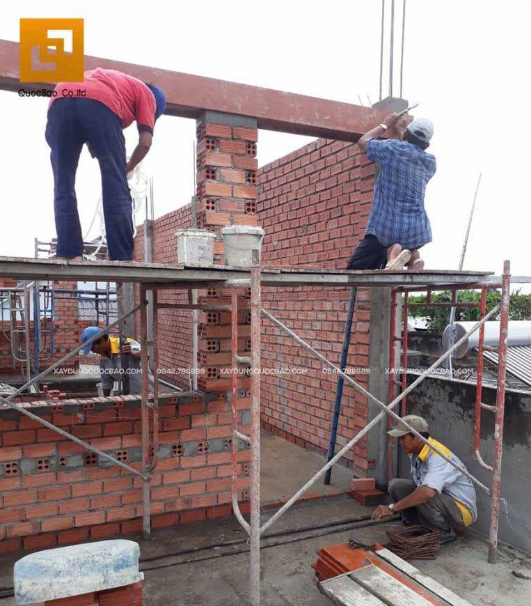 Thi công phần thô nhà 4 tầng - Ảnh 13