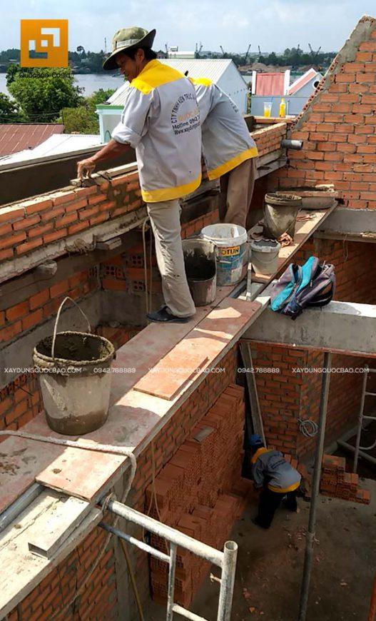 Thi công xây tường bao, tường ngăn, vách ngăn - Ảnh 9