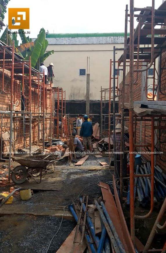 Lắp dựng coppha, cốt thép cột, dầm và đổ bê tông - Ảnh 1