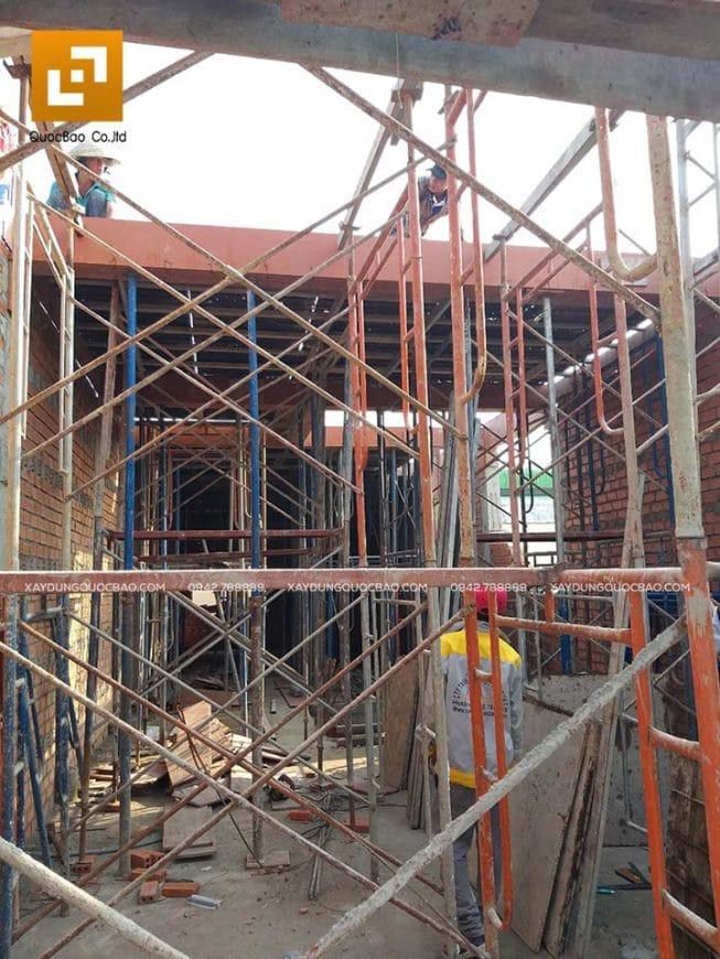 Lắp dựng coppha, cốt thép cột, dầm và đổ bê tông - Ảnh 4