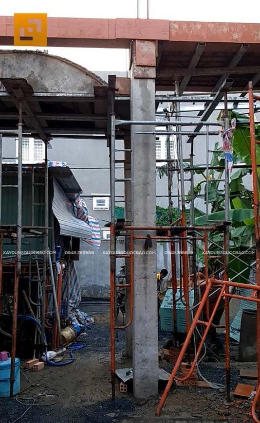 Lắp dựng coppha, cốt thép cột, dầm và đổ bê tông - Ảnh 5
