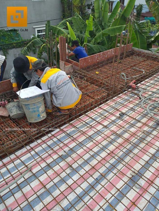 Đan sắt, cố định khung sàn mái