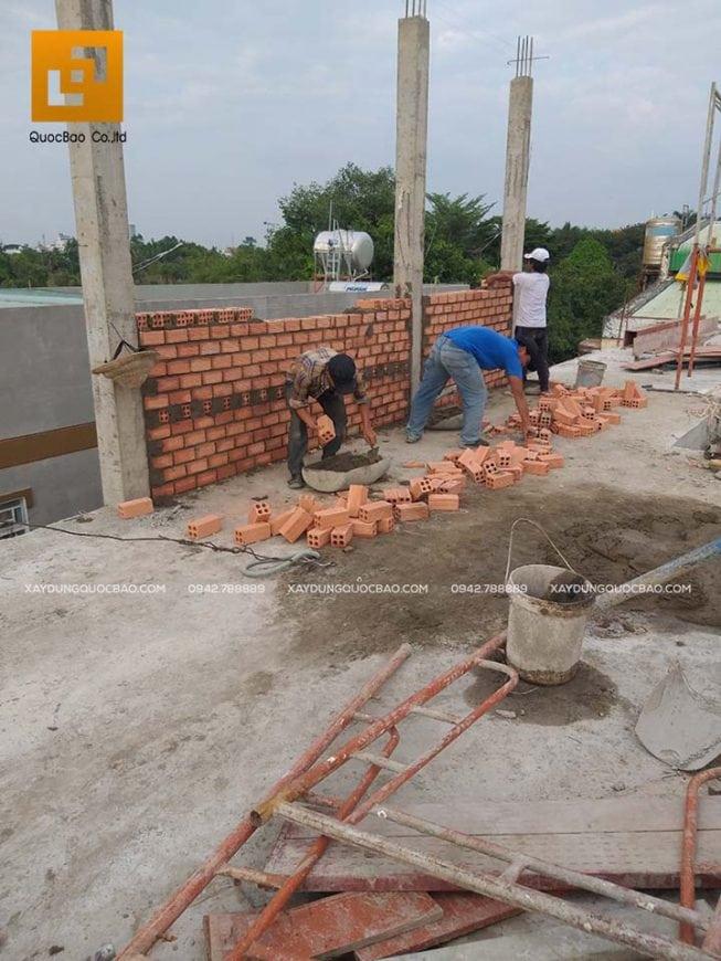 Thi công xây tường bao, tường ngăn, vách ngăn