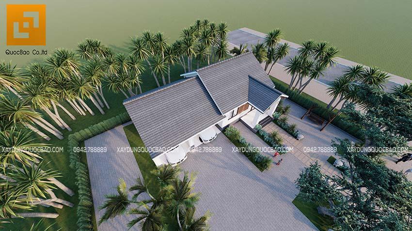 Phối cảnh Biệt thự nhà vườn 1 tầng