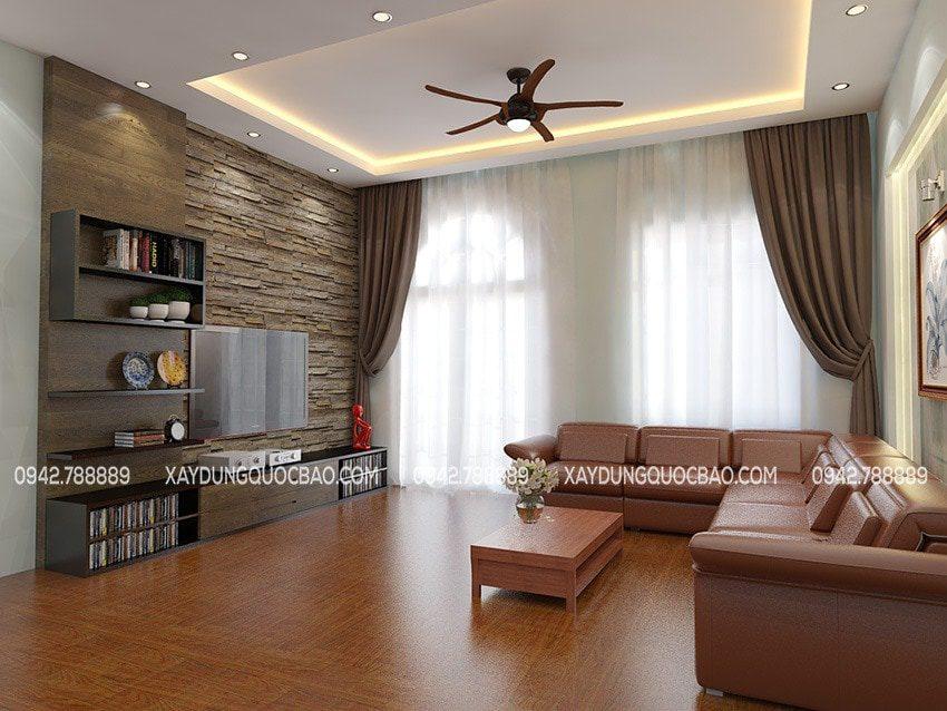 Bộ bàn ghế sofa tôn lên giá trị đẳng cấp của phòng khách nhà phố tân cổ điển
