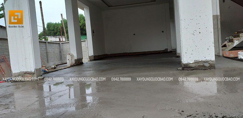 Đan cốt thép và đổ bê tông sàn tầng trệt - Ảnh 3