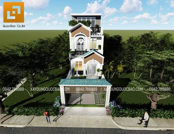 Nhà phố tân cổ điển 3 tầng đẹp của gia đình anh Minh tại Biên Hòa - Đồng Nai