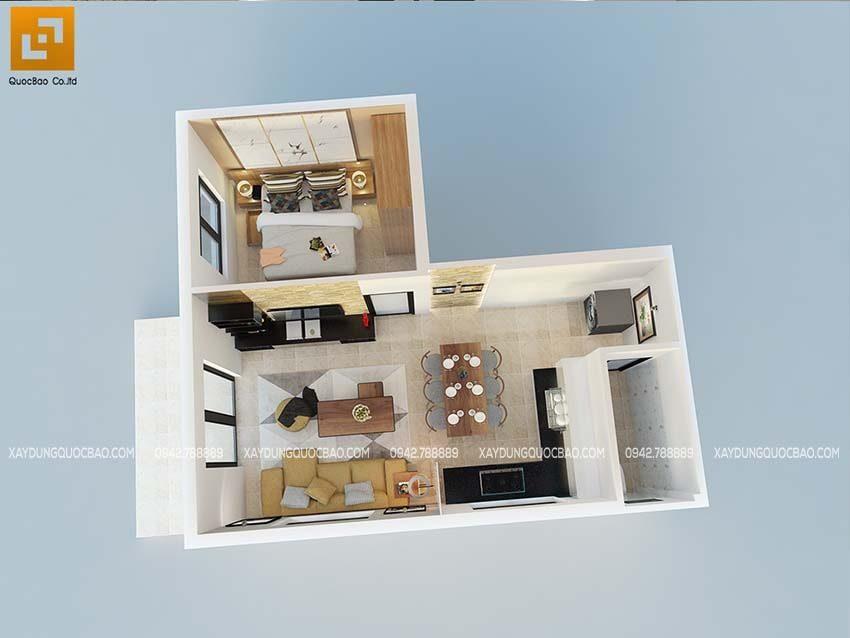Phối cảnh nội thất biệt thự 1 tầng tại Biên Hòa