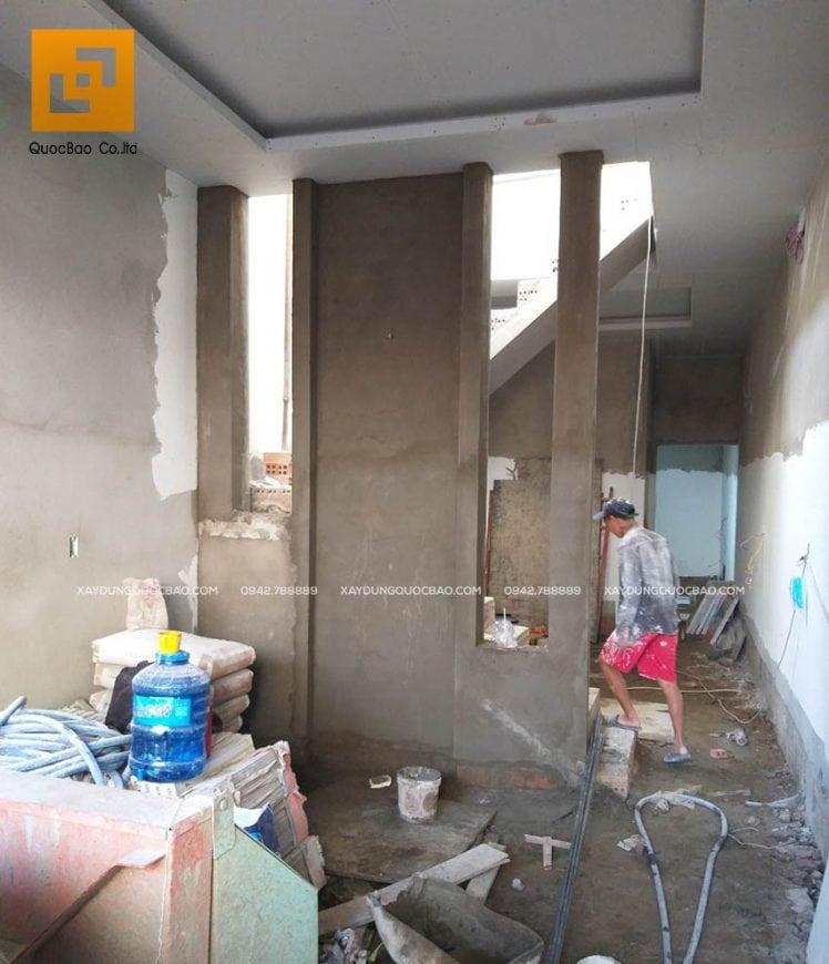 Công tác đóng trần thạch cao các tầng
