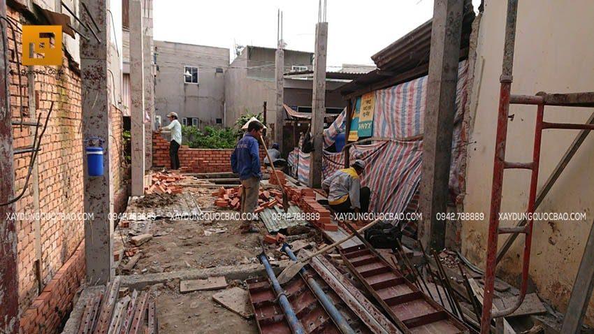 Thi công cột trụ nhà phố tại Biên Hòa