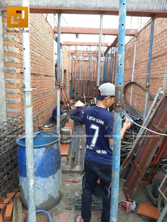 Công tác xây tường, vách tầng trệt