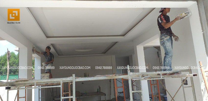 Trét bã matic tường, trần trong nhà - Ảnh 2