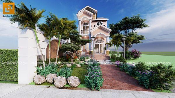 Kiến trúc tân cổ điển như những đóa hoa đủ sắc nở rộ giữa khu vườn xanh mát, đem lại nét thanh thoát cho cảnh quan nhà ở đô thị tại Biên Hòa