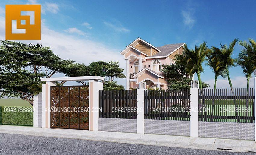 Toàn cảnh khuôn viên ngôi biệt thự 2 tầng tại Biên Hòa