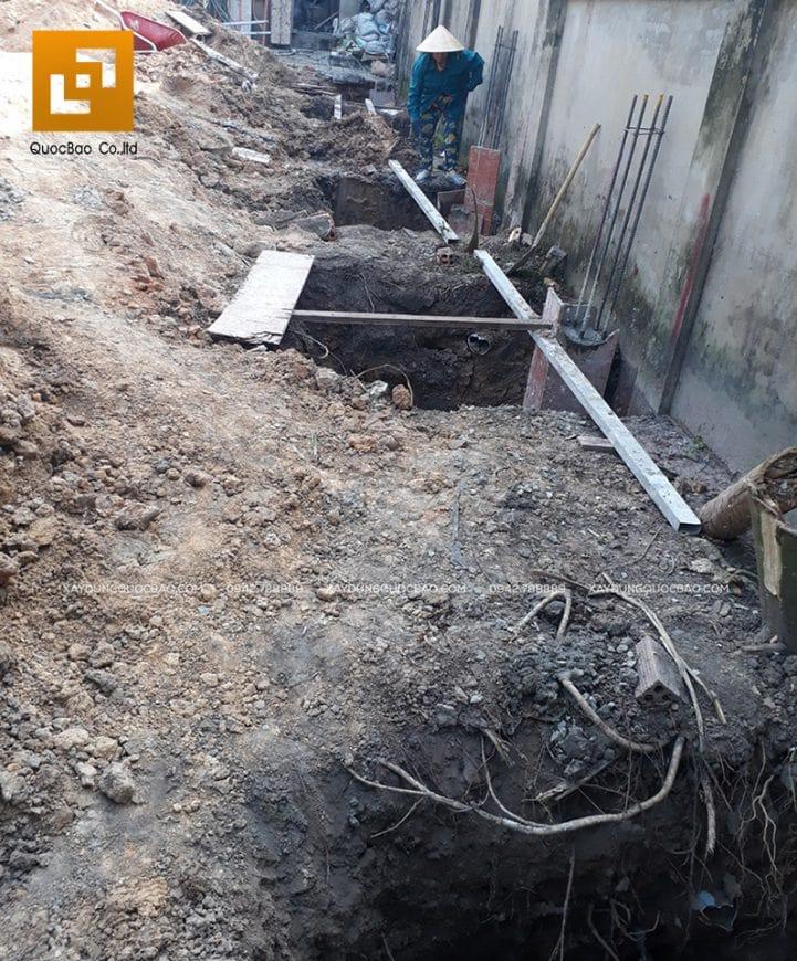 Công tác đào móng biệt thự