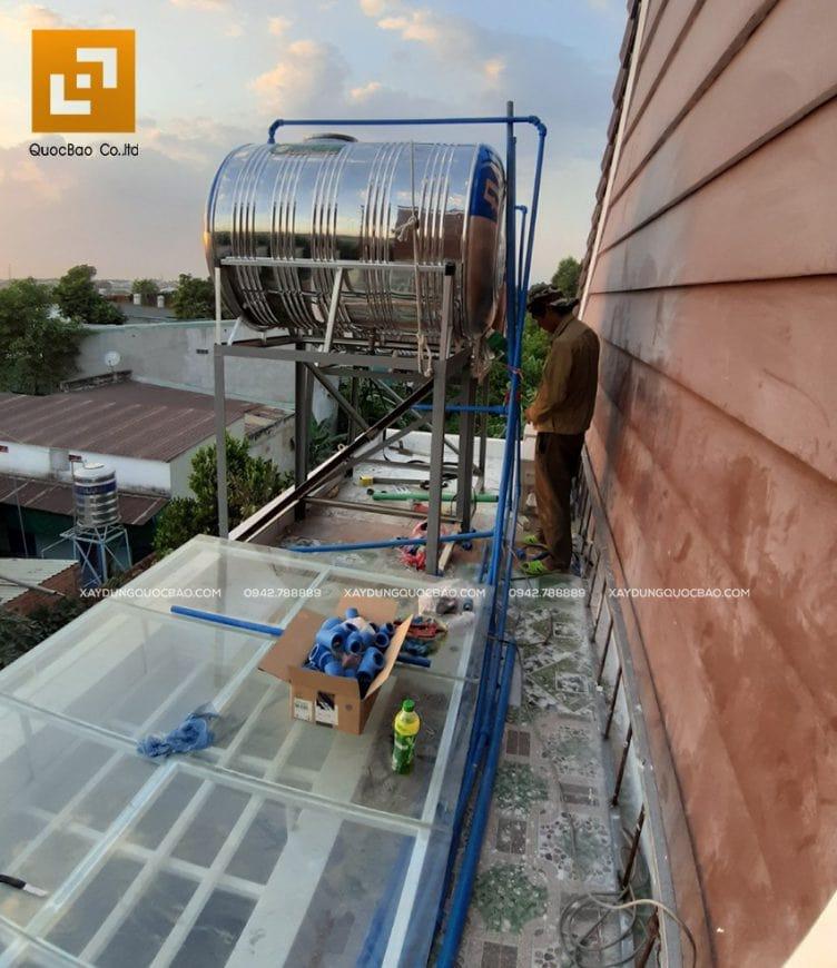 Lắp đặt bồn nước Sơn Hà, hệ thống nước nóng năng lượng mặt trời