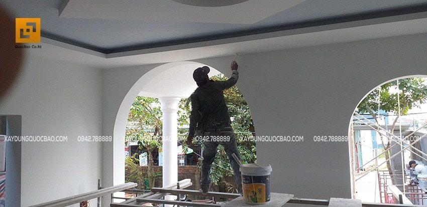 Thi công sơn nước trang trí nội thất Biệt thự tân cổ điển