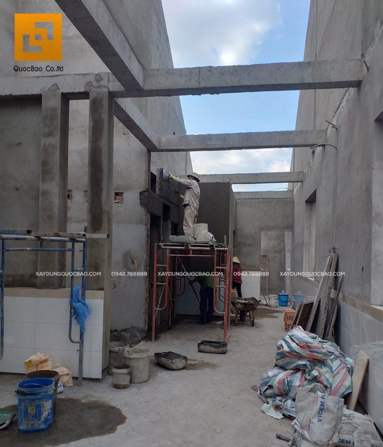 Kĩ thuật tô phải đạt chất lượng để tạo các mặt phẳng thì công đoạn sơn nước mới đẹp