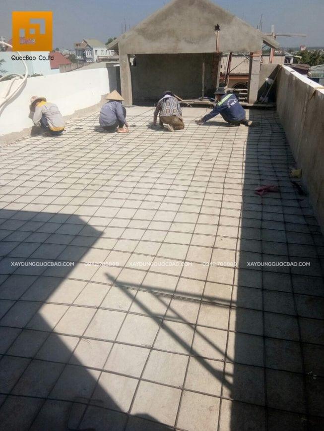 Đan thép chịu lực tầng tum sân thượng