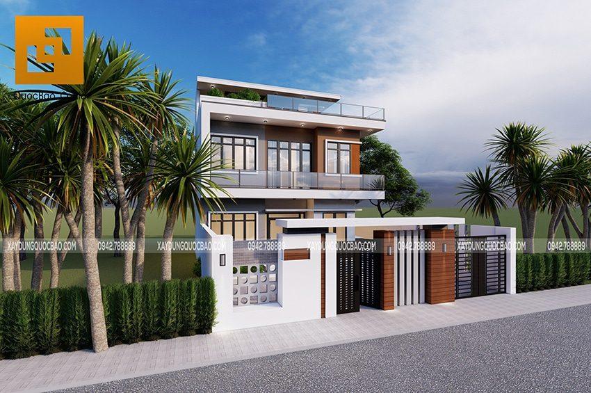 Công trình Biệt thự hiện đại 3 tầng tại Ninh Bình