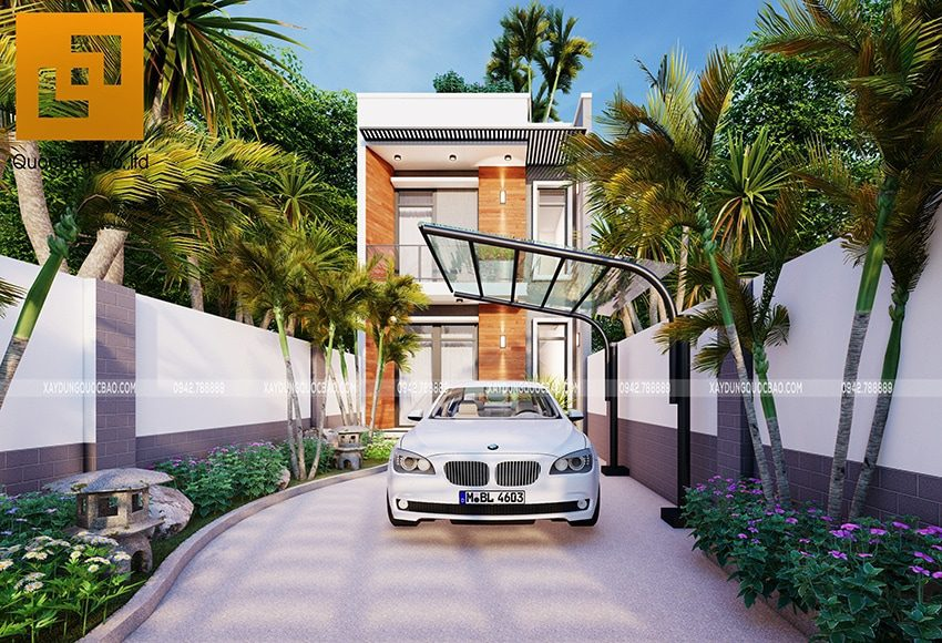 Ngôi nhà phố 2 tầng 1 tum tuyệt đẹp của gia đình anh Đức tại Trảng Bom, Đồng Nai