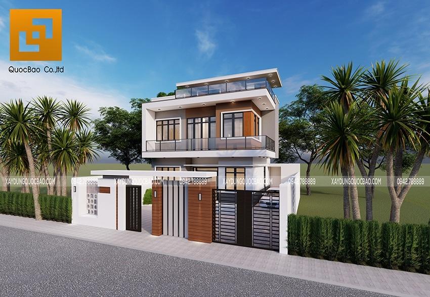 Phối cảnh tổng thể ngoại thất Villa công ty đá mỹ nghệ Phú Lộc