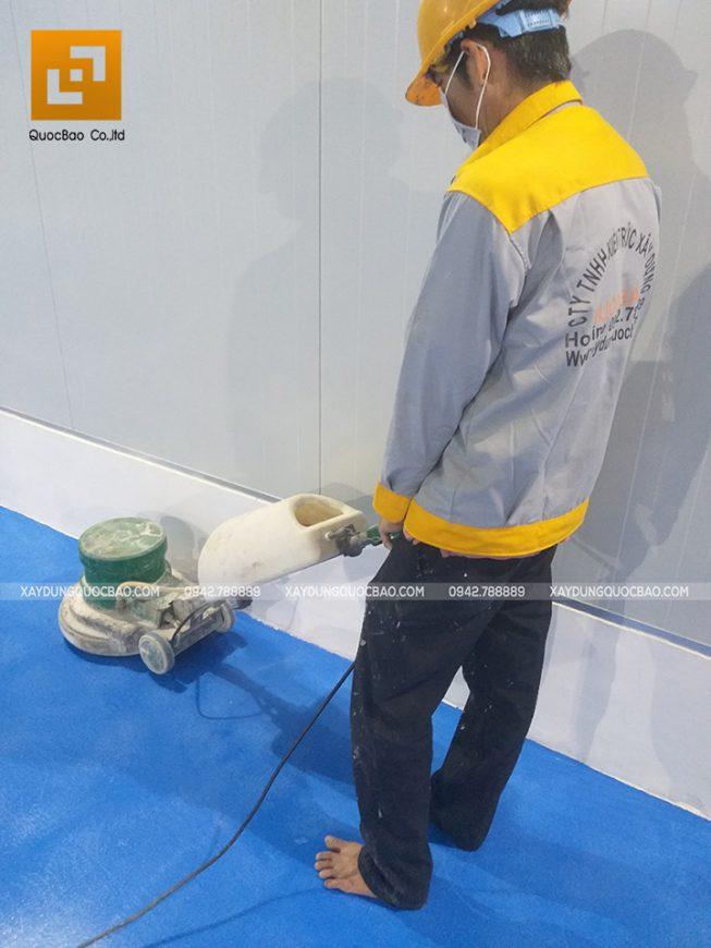 Thi công sơn công nghiệp Epoxy nền kho lạnh - Ảnh 11