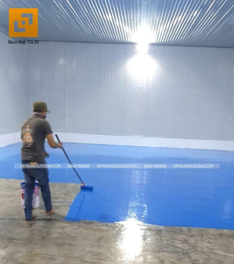 Thi công sơn công nghiệp Epoxy nền kho lạnh - Ảnh 8