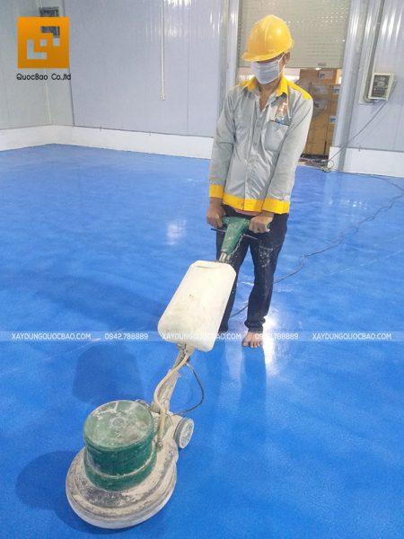 Thi công sơn công nghiệp Epoxy nền kho lạnh - Ảnh 12