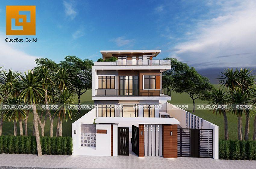 Villa 3 tầng kết hợp nhà ở và văn phòng công ty Phú Lộc tại Ninh Bình