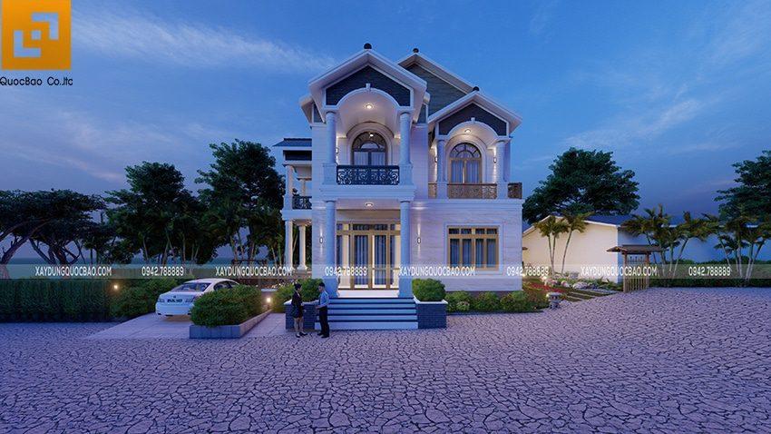 Tổng thể cảnh quan của căn biệt thự tại Vĩnh Cửu của chị Hoàng mang đến một không gian sống hoàn hảo.