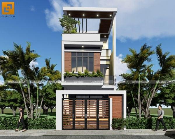 Công trình nhà phố 3 tầng hiện đại tại Biên Hòa, Đồng Nai của gia đình anh Tấn