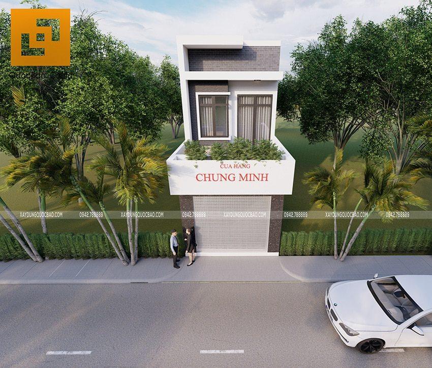 Nhà ống 2 tầng đẹp kết hợp kinh doanh của chú Minh