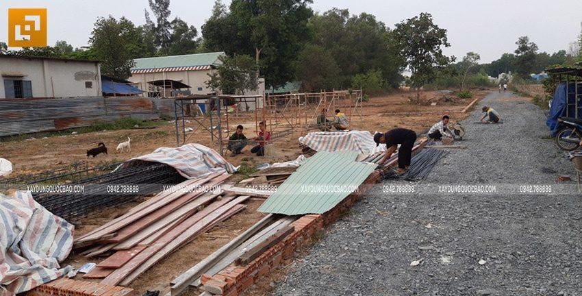 Khởi công xây dựng biệt thự nhà vườn 2 tầng chị Linh tại Nhơn Trạch - Ảnh 3