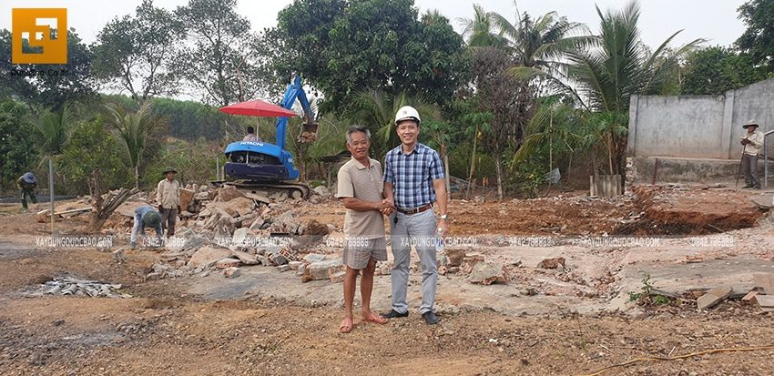Khởi công xây dựng biệt thự nhà vườn 2 tầng tại Vĩnh Cửu - Ảnh 2