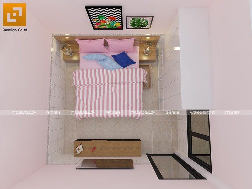 Phòng ngủ của con gái sử dụng tông màu dịu dàng, nữ tính