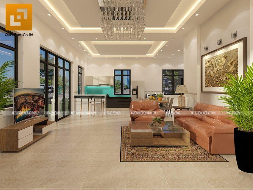 Thiết kế nội thất biệt thự nhà vườn rộng rãi, sang trọng
