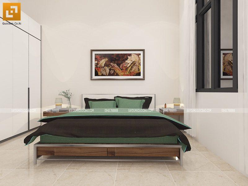 Phối cảnh thiết kế nội thất phòng ngủ tại lầu 1
