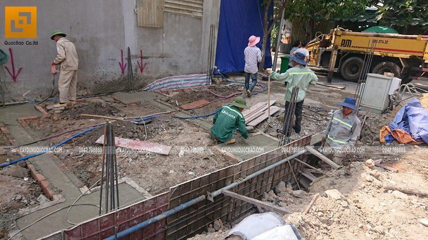 Thi công phần móng nhà phố 3 tầng - Ảnh 6
